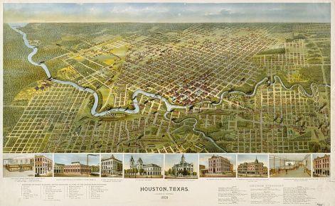 1891 Map of Houston Texas